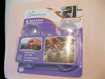 5 Clear Plastic Stove Oven Knob Cover~Safety~Guard~Protect Child Baby ~Gas Range
