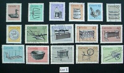 Canada 1982: Heritage Artefacts: Set Of 16 Used Stamps: Lot 1