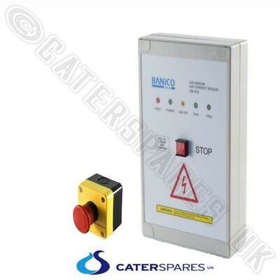 Commercial Gas Interlock Control Panel Amperage Monitor For Pub Takeaway Etc