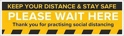 Social Distancing Floor Sticker Keep Your Distance anti slip Small, Med, Large