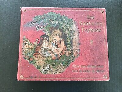 Speaking Toybook Germany Pictures Rhymes Sound Antique Animals Toy Old Book