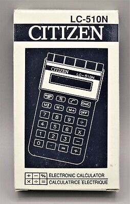 Calculadora Citizen LC-510N electronic calculator, Calculadora vintage. Vercion