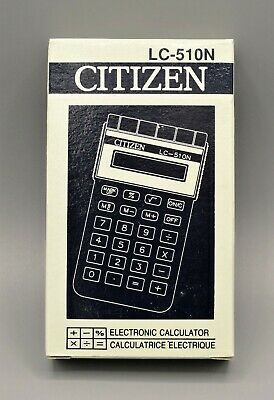 Calculadora Citizen LC-510N electronic calculator, Calculadora vintage Vercion 2
