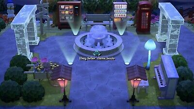Outdoor Fountain Square 20 items - Bells Nook Miles Animal Crossing New Horizons