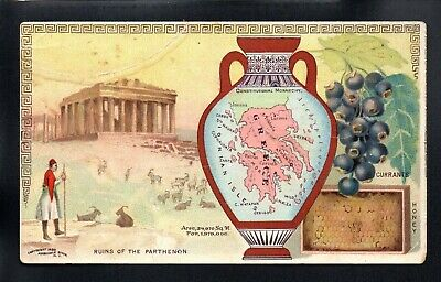 GREECE ARBUCKLE BROS COFFEE COUNTRIES #67 1880 s VICTORIAN ADVERTISING TRADE CRD