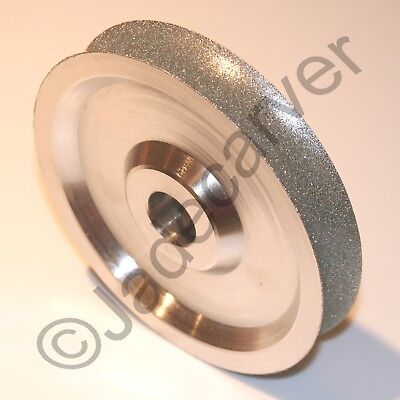 """Concave Diamond Grinding Wheel, 6""""x1"""", 80, 120, 220, 400, or 600 grit"""