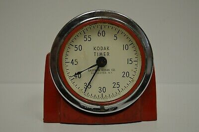 Vintage Eastman Kodak - Kodak Timer - Dark Room Timer - RED