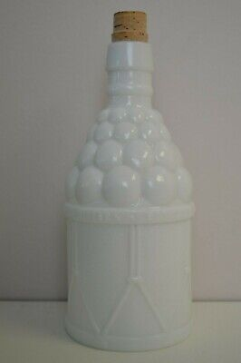 Vintage Wheaton Glass McGiver's American Army Bitters Milk Glass