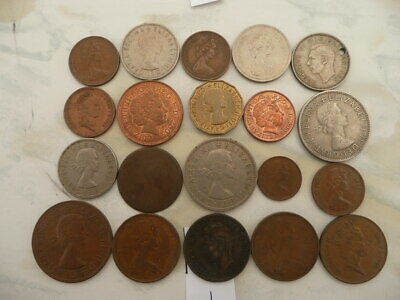 Lot of 20 English Coins of Great Britain - Lot 1