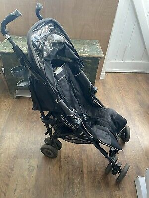 Maclaren techno xt Pushchair Buggy  in black With Cup Holder