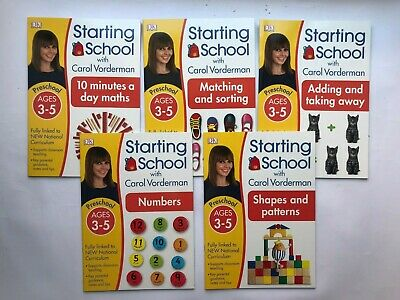 Carol Vorderman's Numeracy Pack of 5 Preschool Workbooks Age 3-5 years