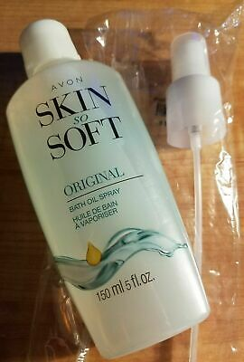 New AVON Skin So Soft Original Bath Oil Infused With Jojoba Oil 5 Fl Oz + pump