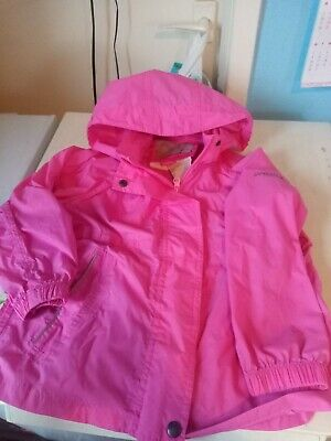Lovely Little Girls Pink Regetta Raincoat 5-6 Years.