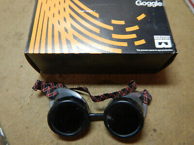 Vintage Fibre Metal Welding Goggles & Bouton Goggles In Box
