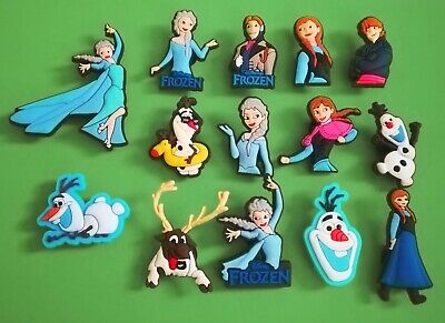 14pcs / 2D PVC Shoe Charms - Disney Frozen - Similar to Jibbitz and fits Crocs