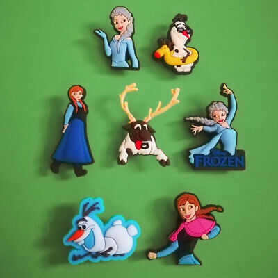 7pcs / 2D PVC Shoe Charms - Disney Frozen 1 - Similar to Jibbitz and fits Crocs