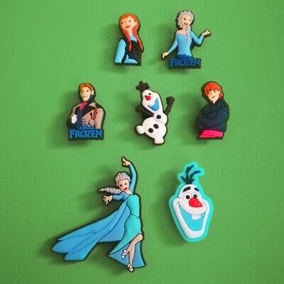 7pcs / 2D PVC Shoe Charms - Disney Frozen 2 - Similar to Jibbitz and fits Crocs