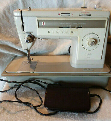Vintage Singer Stylist 513 ,With Case Serviced And Tested.