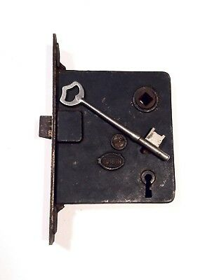 Antique Victorian Era Mortise Door Lock Latch Skeleton Key Works Like It Should