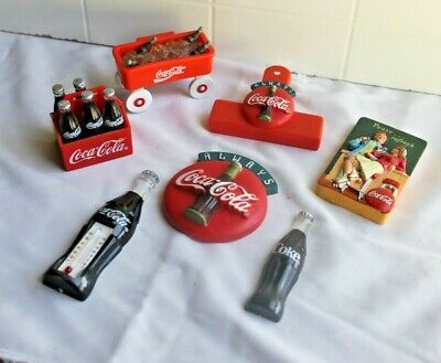 Mixed lot of 7 vintage Advertising Coca Cola refrigerator magnets from 1990's
