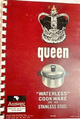 """Amway Queen """"Waterless"""" Cookware Instructions & Recipe Booklet, 1967"""