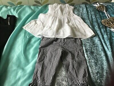 Bnwt kids three quarter trousers and blouse set age 3/4 years