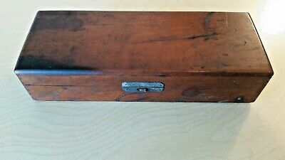 Beautiful Antique 1900's Indiana Doctor's Medical Equipment Wooden Box RARE!