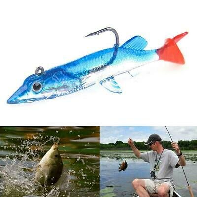 Minnow Night Fishing Lure Crank Bait Hooks Bass Fish Crankbait Tackle TI A3B7