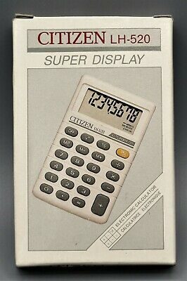 Calculadora Citizen LH-520 electronic calculator, super dislay