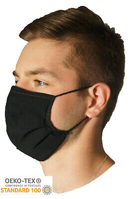 2 x ADULT 3 Layer Face Mask Certified Cotton With Nose Clip Washable Reusable UK