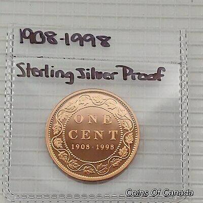 1908-1998 Canada Sterling Silver Large Cent UNCIRCULATED Coin #coinsofcanada