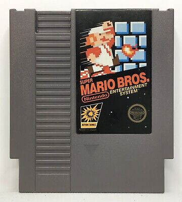 Nintendo NES Super Mario Bros. Video Game Cartridge *Authentic/Cleaned/Tested*