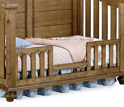 Bassettbaby Premier Benbrooke Brown Crib Toddler Bed Guard Rail Only