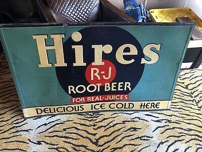 Vintage Tin Embossed Hires Root Beer Sign