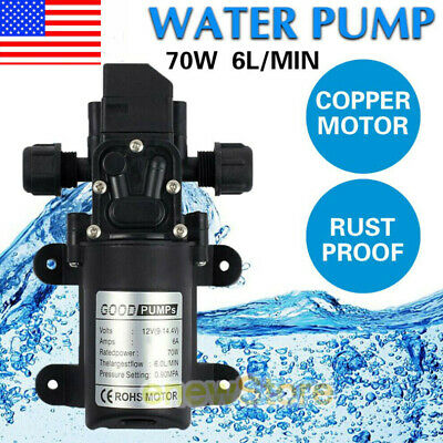 12V 70W Water Pump Pressure Self-Priming For Caravan Camping Boat Trailer AUTO