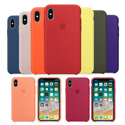 Original Silicone Leather Case For iPhone XR XS Max 11 Pro Max Genuine OEM Cover