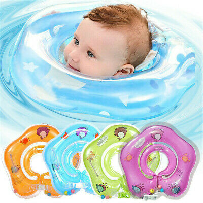 Baby Swim Ring Neck Collar Floating For Toddlers PVC Inflatable Dual Handle Hot