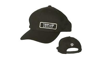 Triple 9 Optics Snap Back Hat (Black, OSFA)