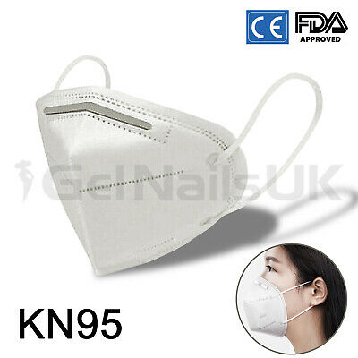 KN95 Face Mask Surgical Disposable Mouth Guard Cover N95 Masks Filter Respir UK