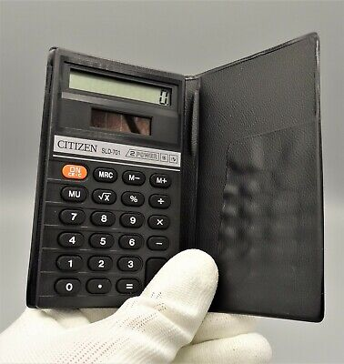 Calculadora Citizen SLD-701 Dual Power calculator Calculadora vintage Como nueva