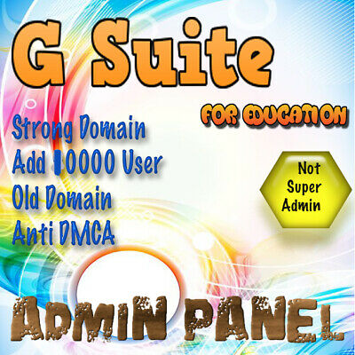 ⚡Domain name with 10000 users G Suite For Education Admin Panel Strong Domain