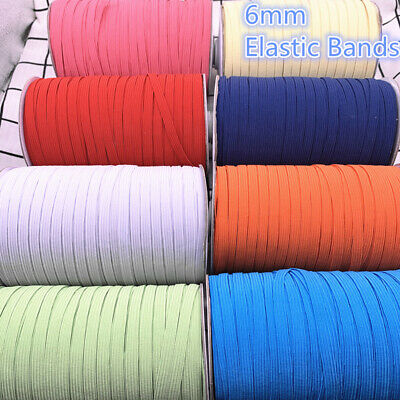 5yds 6mm Hight Elastic Bands Spool Sewing Band Flat Elastic Cord diy Sewmaterial