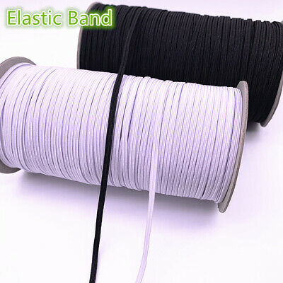 3-12mm Hight Elastic Bands Spool Sewing Band Flat Elastic Cord diy Sewmaterials
