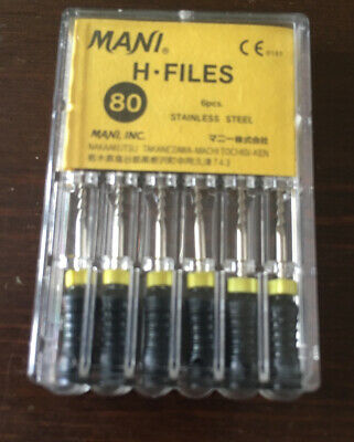 Packs Mani H-File 25mm 80 Hand Use files Endodontic Instruments