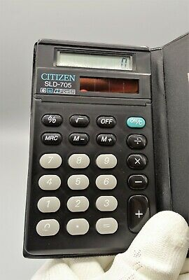 Calculadora Citizen SLD-705B Dual Power calculator Calculadora vintage Como nuev