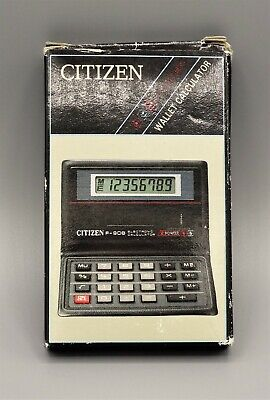 Calculadora Citizen F-908 wallet calculator Calculadora vintage Como nueva!!!  C
