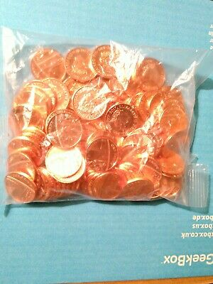 Sealed Bag of 100 Uncirculated UK 2017 1p Coins