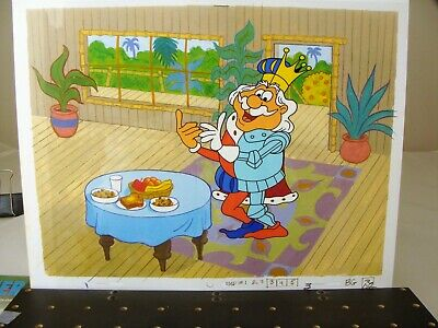 Great Jay Ward Land of the Halves production Cel & Drawing 1980's