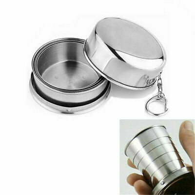 Stainless Steel Portable Outdoor Travel Folding Collapsible Cup Telescopic A9W3