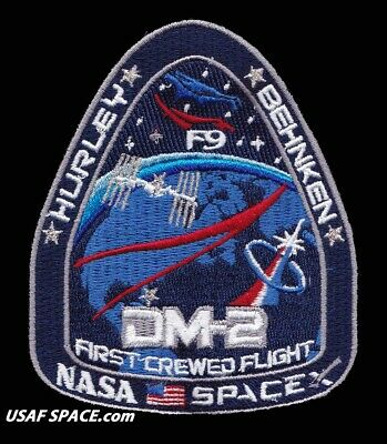 AUTHENTIC SPACEX DM-2 FIRST CREWED FLIGHT - F9 ISS NASA SPACE Mission PATCH
